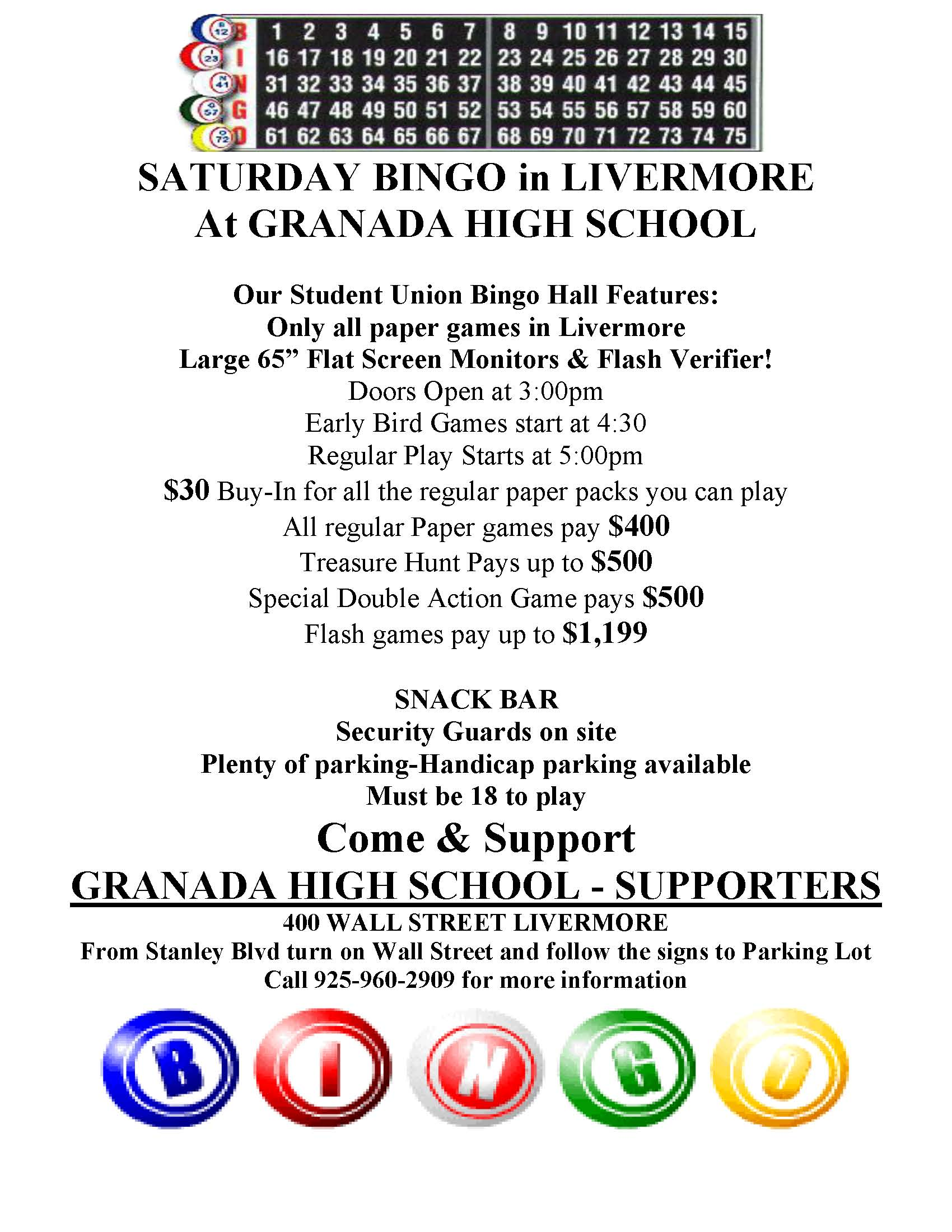 New Bingo Flyer 12-15-2015